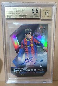 2018-19 Topps Finest Lionel Messi Auto Autograph Signature Barcelona BGS 9.5