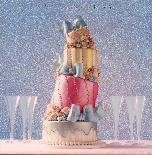 GLITTERY CARD TOPSY TRIVEY WEDDING CAKE WEDDING DAY CARD 1STP/&P GREETING CARD