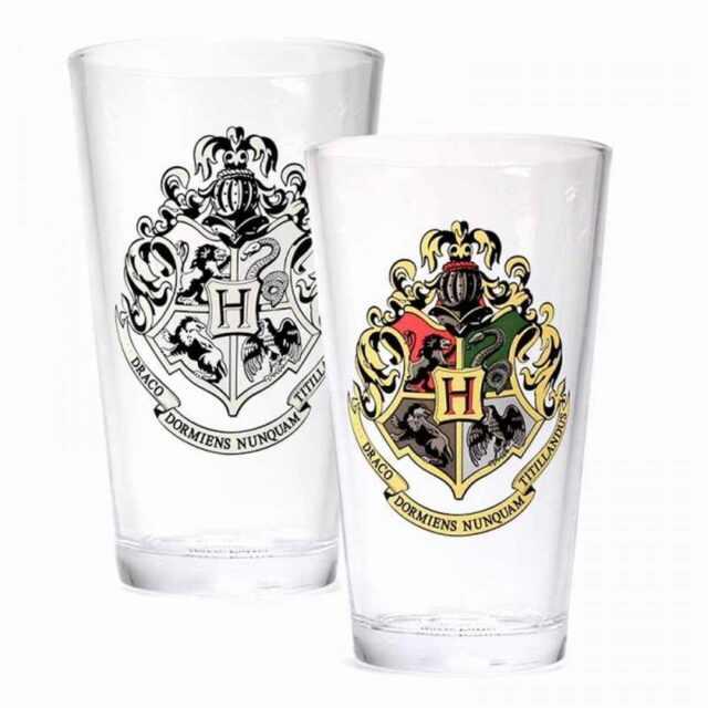 Harry Potter Hogwarts Color Changing Glass