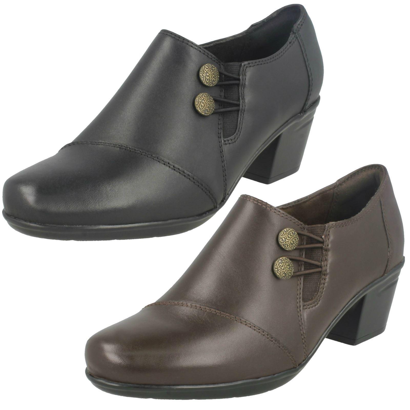 Damen Clarks Emslie Warren Leder Smart Absatz Hose Schuhe