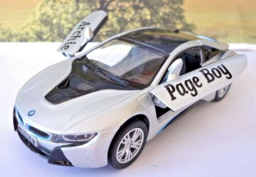 Wedding Day Gift Personalised Page Boy Usher Groom Name BMW i8 Boy Toy Car Boxed