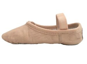 Ballet-Leather-Shoes-Pink-Full-Sole-with-Elastics