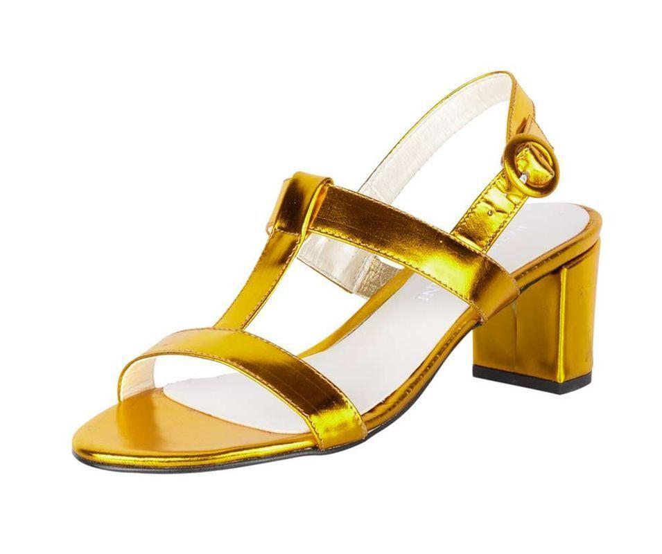 Patrizia Dini Designer Da Da Designer Donna-Sandali, giallo-metallico 55411e