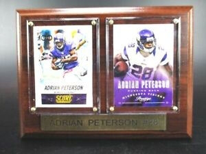 Adrian-Peterson-Minnesota-Vikings-Holz-Wandbild-20-cm-Plaque-NFL-Football
