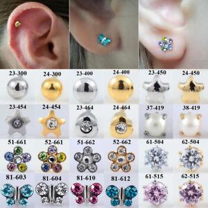 c24e8faa7 Pair Surgical Steel CZ Stud Earring Ear Cartilage Helix Piercing ...