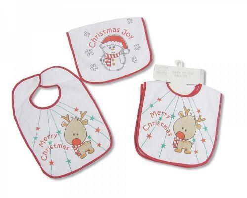 Nursery Time Baby Navidad X-mas Baberos Con Peva Back Pack De 2-647