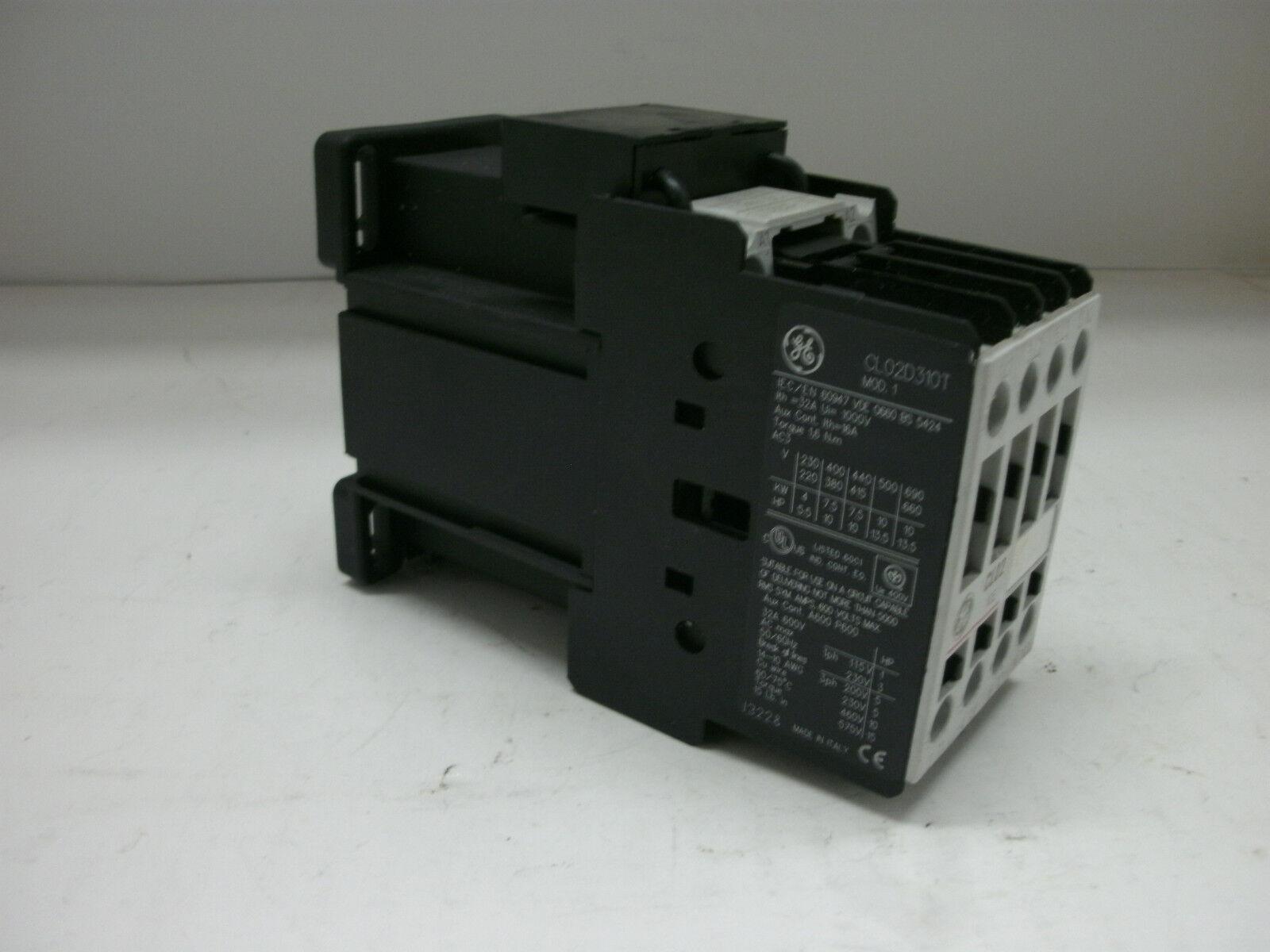 GE REVERSING STARTER CONTACTOR CL02D310T NNB