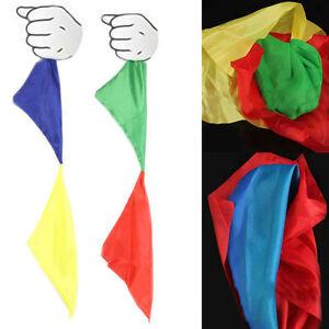 Magie-Doppelfarbwechsel-Hanky-Silk-Zaubertrick-Wechsel-Zaubertrick-Spielzeug-Neu