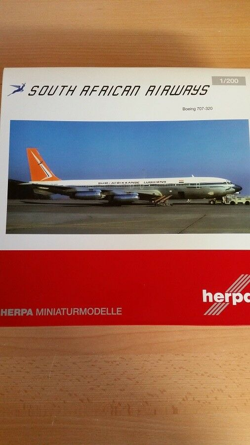 Herpa 558693 - 1 200 Boeing 707-320 - South African Airways-Nouveau