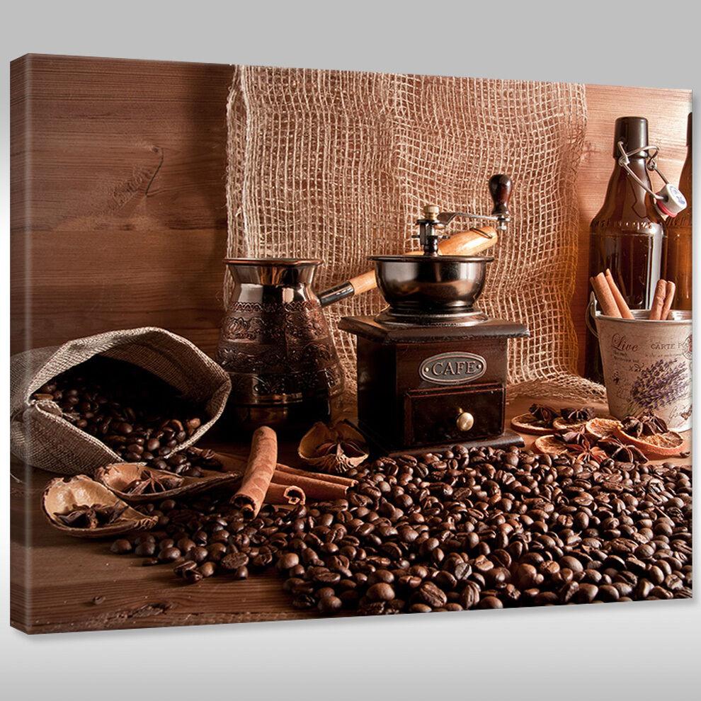 Telaio Immagine Immagine Immagine Tela Canvas Print IMMAGINE Parete per Cucina Caffè specialità 854080