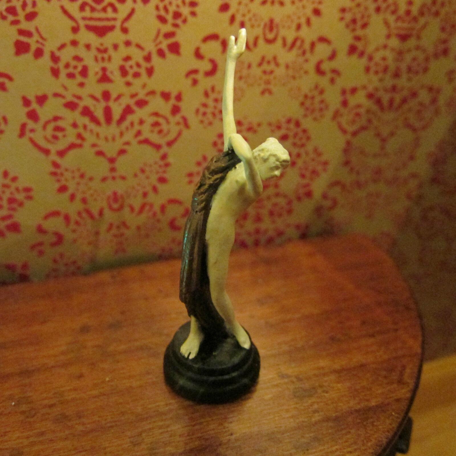 Ornamento ~ bronzo figura ~ Art Deco Stile ~ DOLL HOUSE miniatura ~ 1 / 12th scale