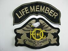 HARLEY DAVIDSON SET 2 PEZZI OWNERS GROUP aquila HOG patch LIFE MEMBER PICCOLA