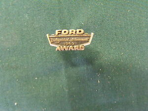 1963 ford motor co dealership distinguished achievement for Ford motor company awards