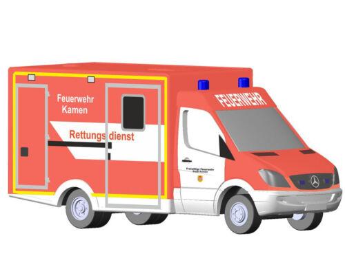 Rietze 16185-Mercedes qué ambulancia RTW FW llegaron-pista N-nuevo