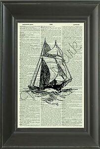 Diccionario-Balandro-VINTAGE-ORIGINAL-Impresion-de-Arte-barco-Art-Print-barco-300D