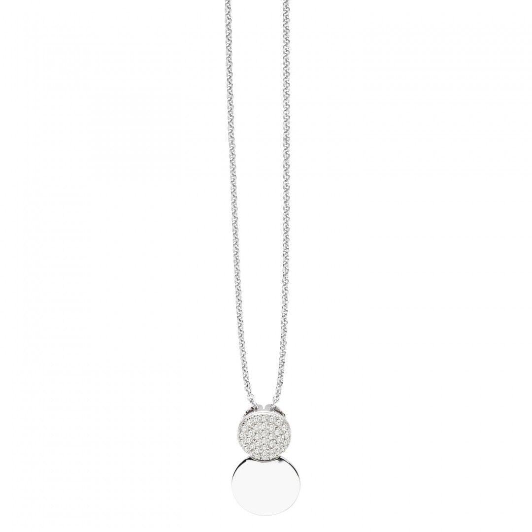 Cadena con Colgante para Señoras Moderno Simplicidad Auténtico silver 925 ST1381