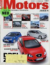 Motors 11 05 2005 VW Golf R32 BMW 130i Audi RS6 Citroën C6 Nissan 350Z Seat Leon