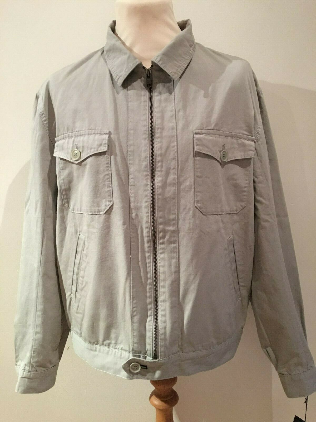 FARHI Mens grau Jacket Coat Größe New