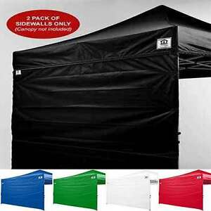 Image is loading 10x10-EZ-Pop-Up-Canopy-Tent-Canopy-Sidewalls- & 10x10 EZ Pop Up Canopy Tent Canopy Sidewalls Kit TWO WALLS ONLY ...