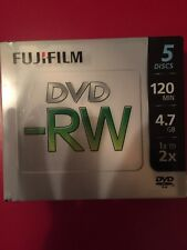 Fujifilm Media 25322005 DVD-RW 4.7GB 120 Minutes Disc 2X Storage Media 5 Pack Spindle