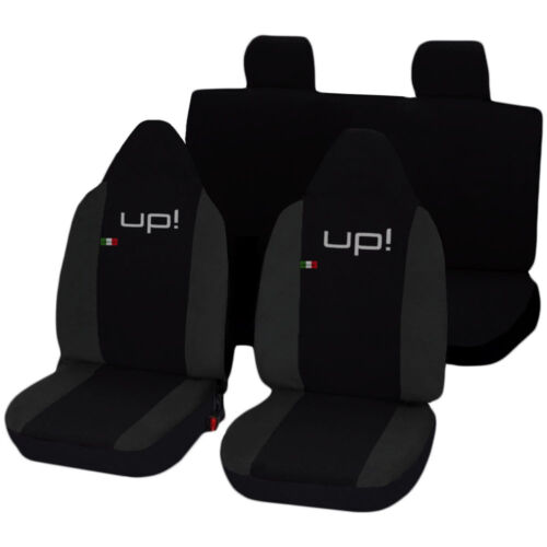 CAR SEAT COVERS VOLKSWAGEN UP LINERS TWO-COLOURED BLACK DARK GREY