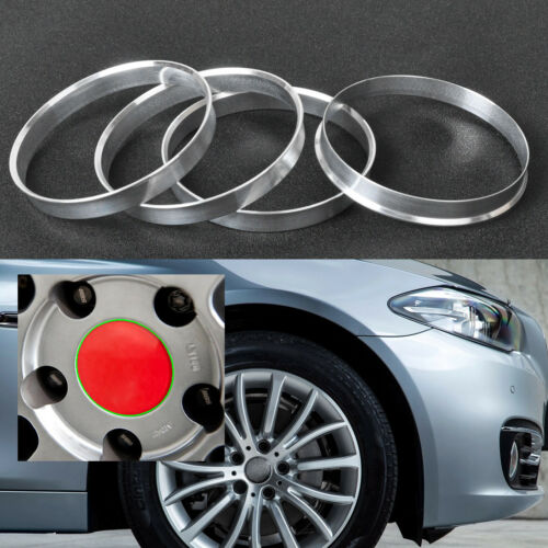 4x Aluminium Nabe Ringe 72,6 mm Auto Nabenbohrung auf 74,1 mm Felgen für BMW