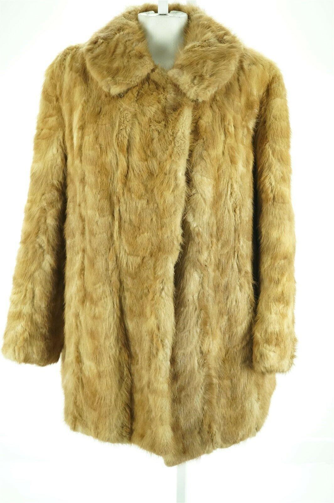 F08286 Craft Cutter Repurpose only Pastel Brown Sculptured Mink Real Fur Coat