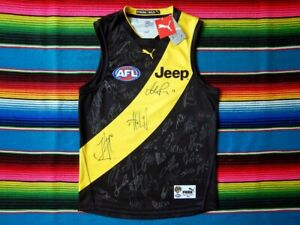 Signed-2017-RICHMOND-TIGERS-Premiers-Guernsey-AFL-Issued-COA-Jumper-Jersey