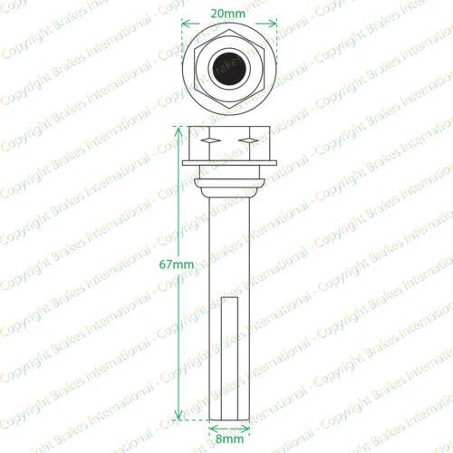 VOLVO V70 MK3 2007-2015 2x REAR BRAKE CALIPER SLIDER PIN GUIDE KITS BCF1368AKX2