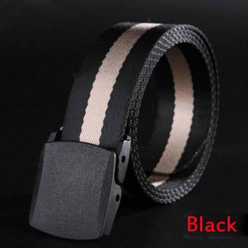 Anti-allergic No Metal Belt Buckle Canvas Nylon Belt Men/'s Leisure Sports Belt a
