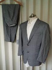 CANALI Suit Mens Birdseye Black & White 52S 42S Jacket Pants Sport Coat Blazer