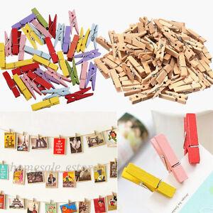 multicolor wooden clothe photo paper peg pin clothespin craft clip