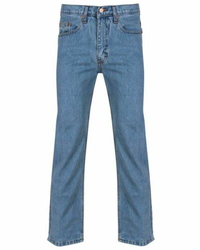 nero Denim Fashion 30 Boys Straight New Lavoro Mens to50 scuro Adulti Branded Taglia Azzurro blu Jeans Leg 8ZUHTq