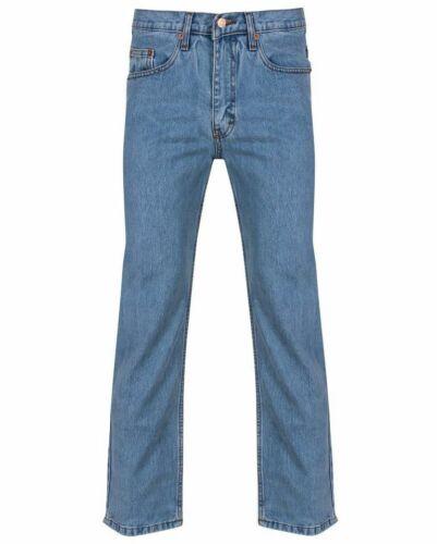 New 30 nero Branded Fashion Boys Denim Jeans Straight scuro Mens Taglia Lavoro Azzurro to50 blu Leg Adulti PWZfP4qr