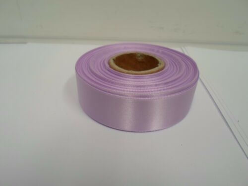 3mm 7mm 10mm 15mm 25mm 38mm 50mm LIGHT LILAC PURPLE Satin Ribbon double sided UK
