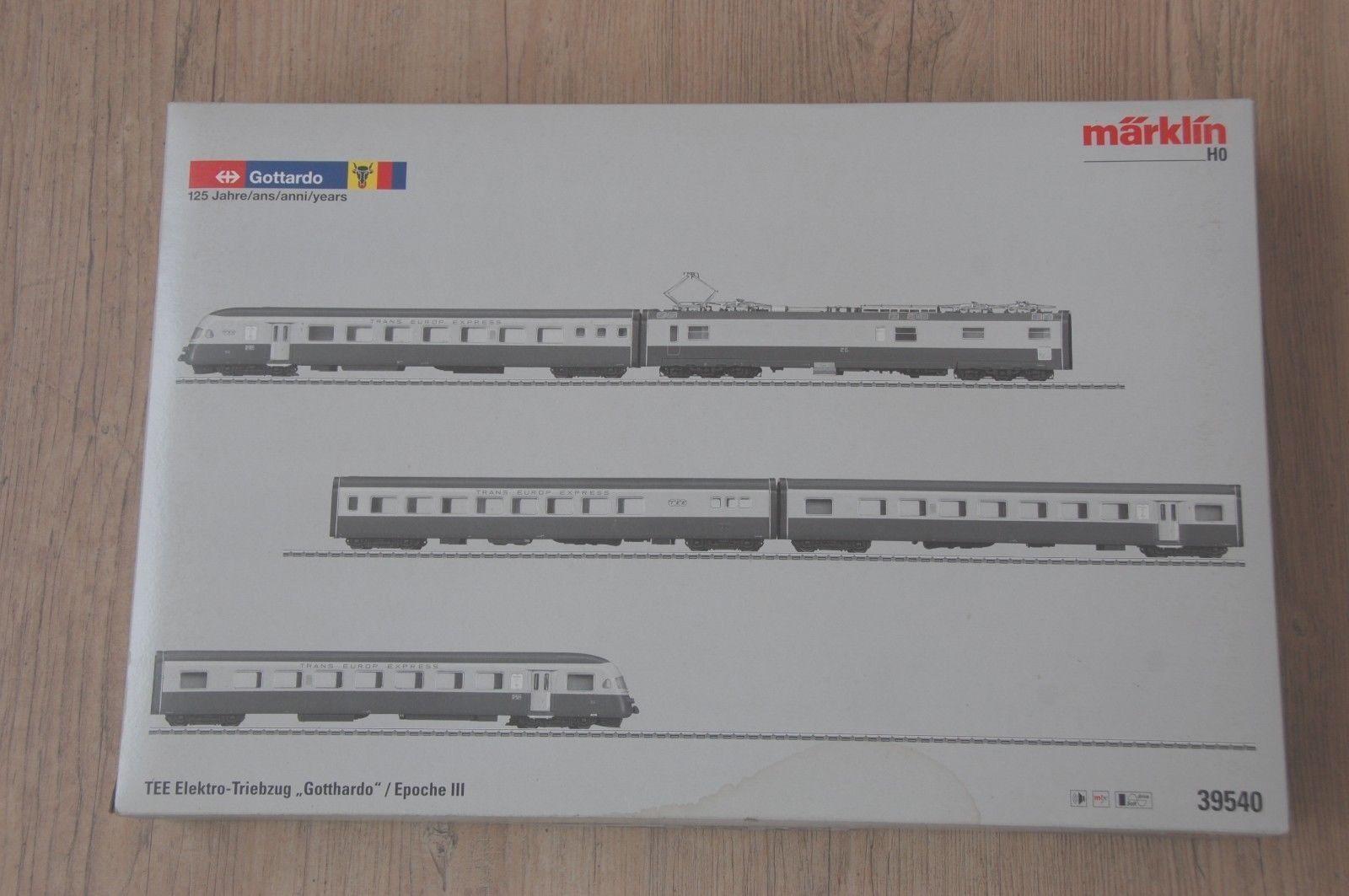 ¡Märklin H0 39540 tren eléctrico  Gotthardo  - una serie de tiempo de té