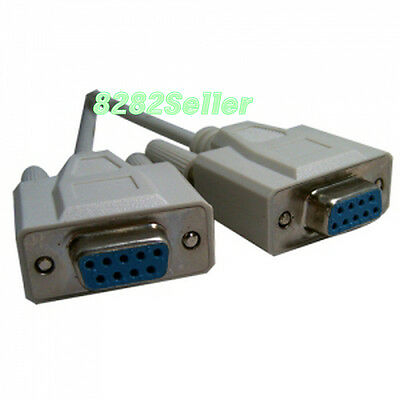 3M 10FT Serial Null Modem Cable RS232 DB9 9 Pin Female to Female F-F