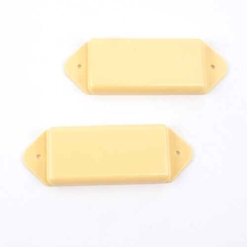 F07 a Set of 2 P90 Dog-ear guitar Pickup Covers Cream,Undrilled