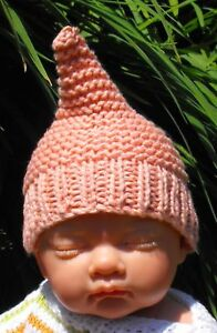 9c83a499c4d Image is loading PRINTED-KNITTING-INSTRUCTIONS-BABY-PEACH-PIXIE-ELF-GNOME-