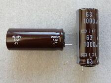 2 condensateurs 1000uF 63V 105°C Nippon Chemicon LXF low esr