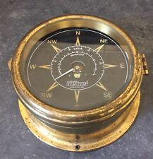 Vintage Den Ouden Vetus Nautical Marine Speedometer and Compass Decorative Prop