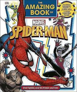 The-Amazing-Book-of-Marvel-Spider-Man-by-Grange-Emma-NEW-Book-FREE-amp-FAST-Del
