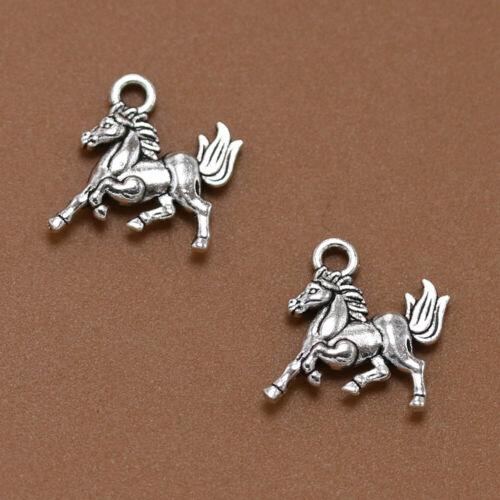 30-200x Tibetan silver Thousand miles horse Charm Animal Pendant Jewelry Finding