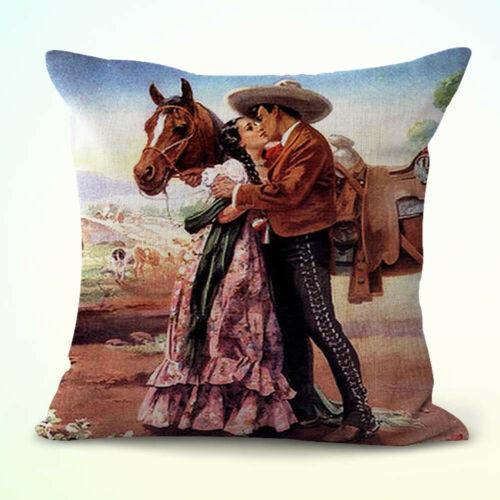 US Seller set of 4 hispanic art Mexican cushion covers cute decorative pillow