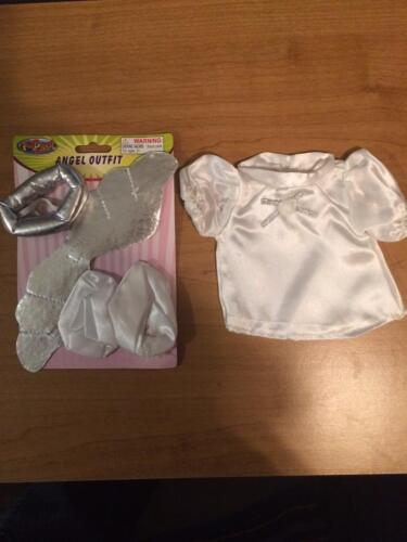 """New Accessories for 8-10/"""" Teddy Bear or Doll  # D White ANGEL Outfit"""