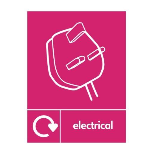 Électrique recyclage signe 150 mm x 200 mm Auto Adhésif En Vinyle REE-41W