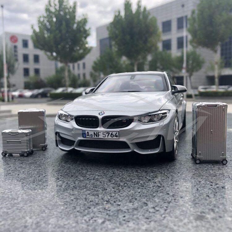 Modèle De Voiture NOREV BMW M3 Competition  2017 1 18 (Argent) avec des valises + petit cadeau  il y a plus de marques de produits de haute qualité
