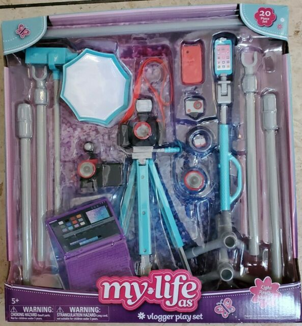 """My Life As Vlogger Play Set for 18/"""" Doll NEW"""