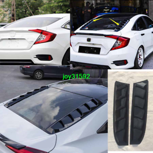 Gloss Black Roof Rear Window Cover Trim For Honda Civic 2016 2017 2018 2019 2020 Ebay
