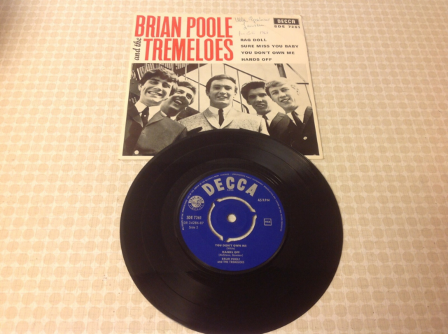 EP, Brian Poole and the Tremeloes, Rag Doll mfl. År 1965,…